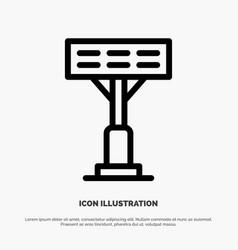 Construction light stadium line icon vector