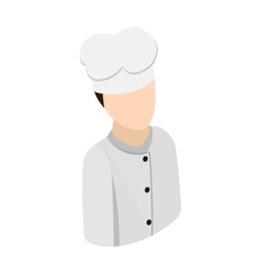 Cook chef isometric 3d icon vector image vector image