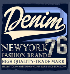 Denim originals t-shirt design poster vector