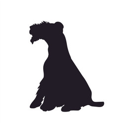 Dog sitting silhouette vector