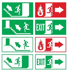Emergency exit signs vector image