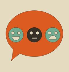 Emoticon set icons emoji symbols isolated vector