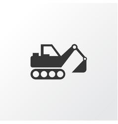 excavator icon symbol premium quality isolated vector image
