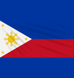 Flag philippines - peaceful time realistic vector