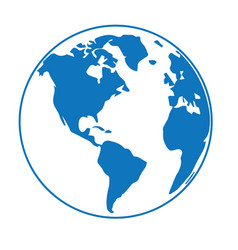globe earth 10 vector image