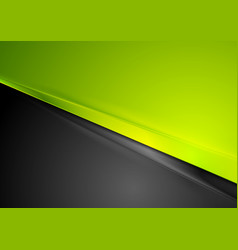 Green and black contrast striped abstraction vector