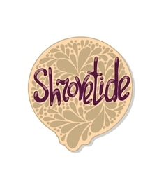 Greeting shrovetide card vector