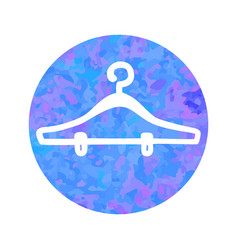 hand drawn icon of hanger vector image