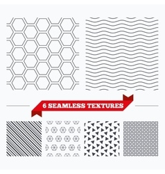 Hex stripped grid seamless pattern vector
