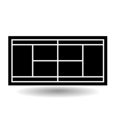 icon playground tennis vector image