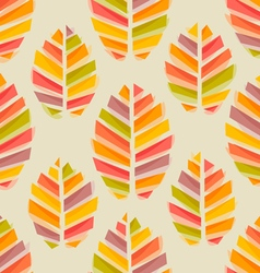 Leaves autumn watercolor pattern vector