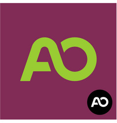 letters ao monogram a and o logo vector image