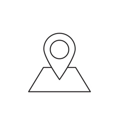 Location icon outline vector image