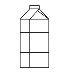 Milk box icon outline style vector