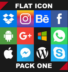 modern flat icon pack one image vector image