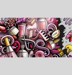 Nails hand drawn doodle banner cartoon vector