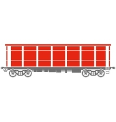 Open Railway freight car vector image
