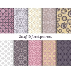 Pastel flowers backgrounds vector image