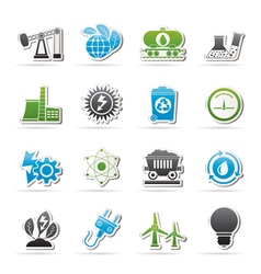 power and energy production icons vector image vector image