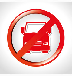 prohibited truck transit road vector image