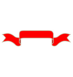 ribbon red sign 1411 vector image