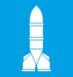 rocket icon white vector image
