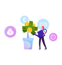 Roi return on investment concept businesswoman vector