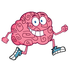 running brain vector image