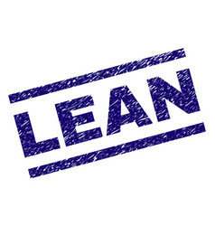 Scratched textured lean stamp seal vector