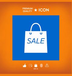 Shopping bag with the sale discount symbol vector