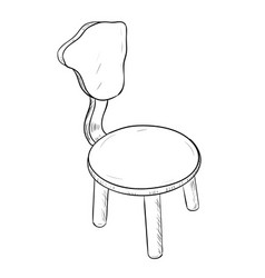 sketch of chair vector image