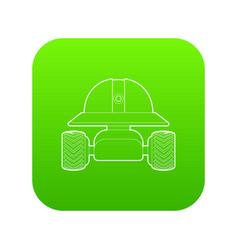 Smart robot icon green vector