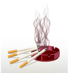 smoking cigarette the harm of smoking it kills t vector image