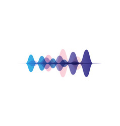 Sound waves of different colors audio digital vector