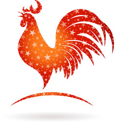 Stylized Rooster vector image