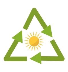 Sun solar energy vector image