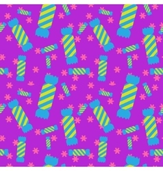 Sweet candy seamless pattern Colorful sugar wrap vector