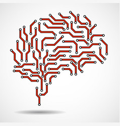 technological brain vector image