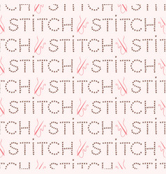 Trendy hand craft stitch lettering seamless vector