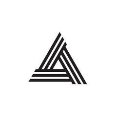 triangle logo - abstract prism geometric business vector image