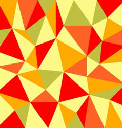 triangular retro autumn background vector image