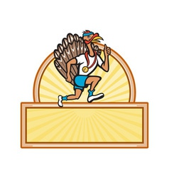 Turkey Run Runner Side Cartoon Isolated vector image