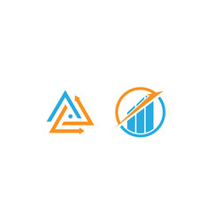 Unique and modern business logo design and icon fo vector