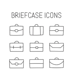 vecor briefcase icons vector image