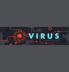 virus pandemic abstract background coronavirus vector image