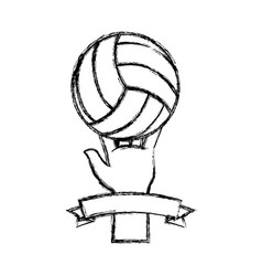voleyball sport game vector image