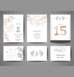 Wedding save the date invitation cards collection vector