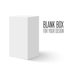 White blank box vector image