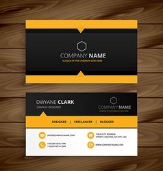 Yellow black modern business card vector