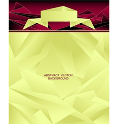 Abstract geometric background with origami ribbon vector image
